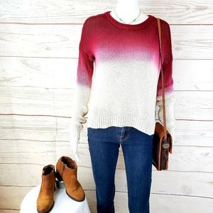 Nordstrom San Souci ombre knit pullover sweater